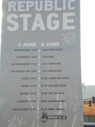 Το πρόγραμμα στη Republic Stage